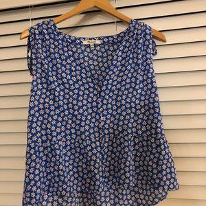 Madewell blue daisy top